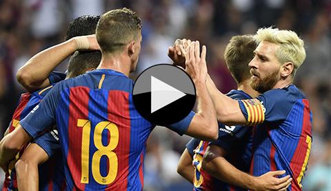Barcelona 4 - 2 Leicester City